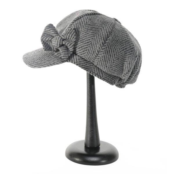 Dark Grey Herringbone Cap