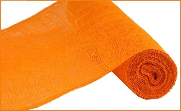 "12""X10YD COLORFAST LOOSE WEAVE BURLAP ORANGE"
