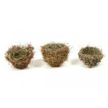 """NEST BROWN/GREEN GRASS set of 3 2"""""""