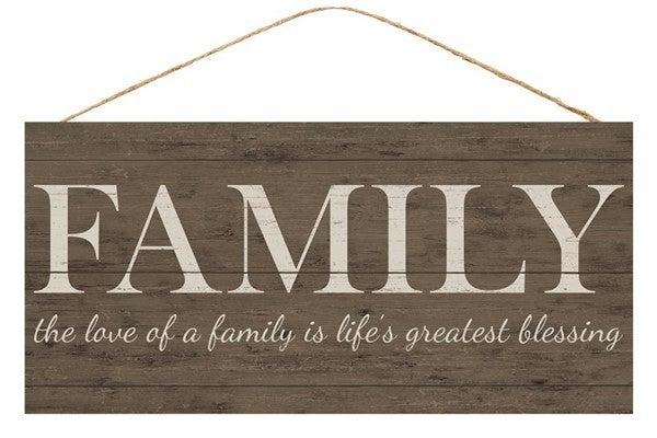 "12.5""L X 6""H Family Love"