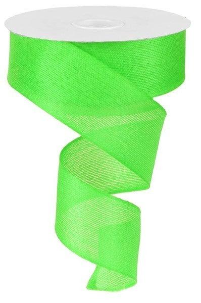 """1.5""""X10yd Classic Faux Burlap Lime"""