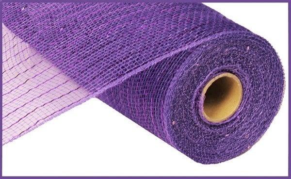 """10.25""""X10YD METALLIC MESH Purple w/Purple Foil"""