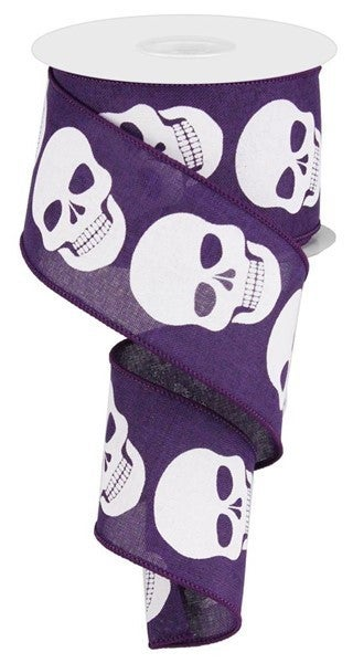 "2.5""X10yd Skulls On Royal Purple"