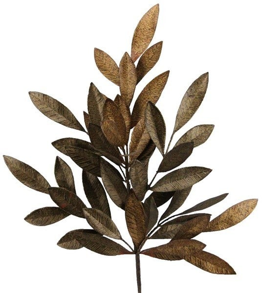 "23"" Bay Leaf Spray Mixed Copper"