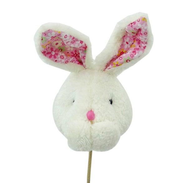 Plush Rabbit Head Spray H23 Pink