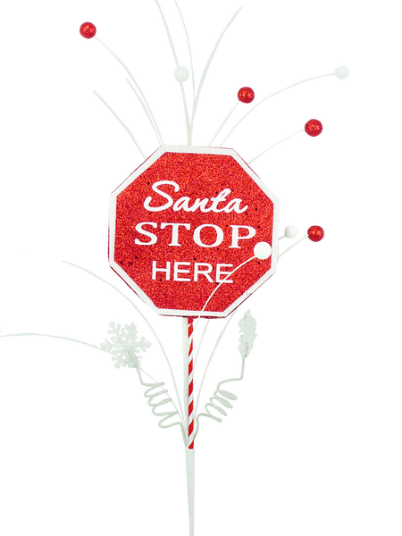 SANTA STOP HERE SIGN 28L