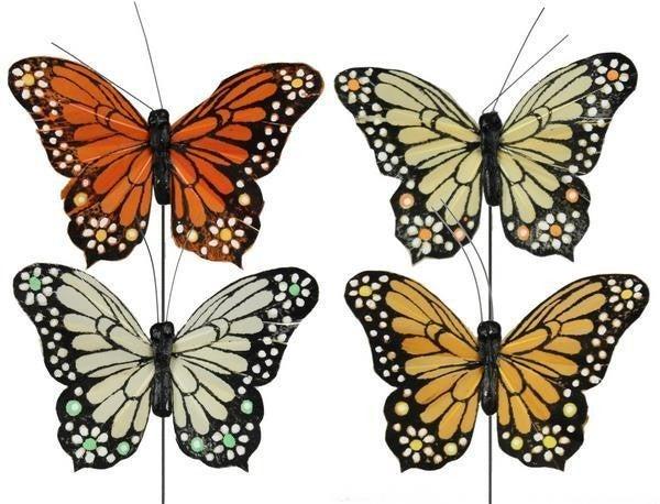 """3.25""""W Flower Butterfly"""