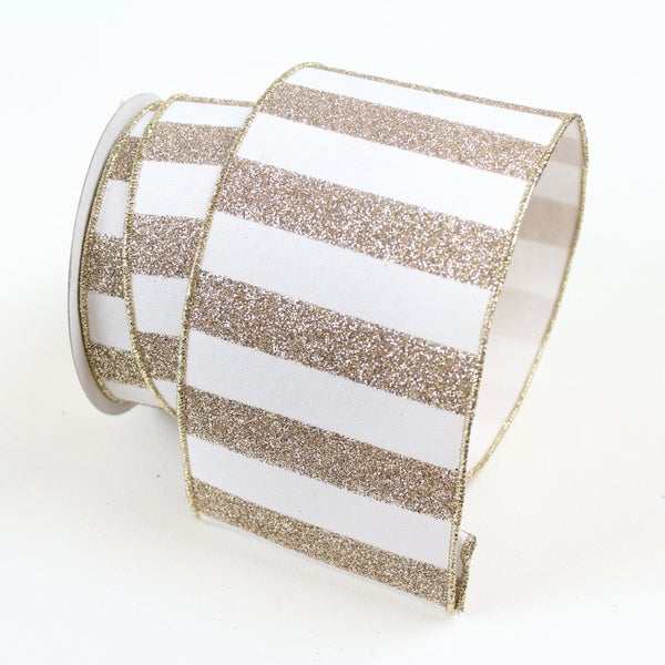 "GLITTER STRIPES  2.5"" X 10YD / PLATINUM"