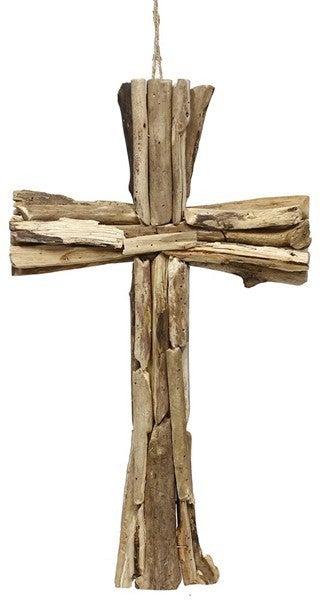 """20""""L Driftwood Cross"""