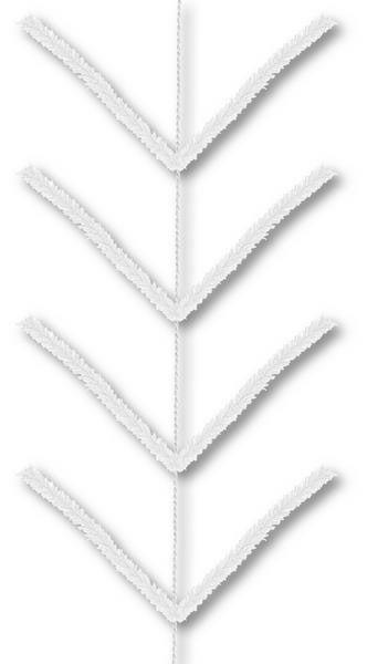 9' Pencil Work Garland X22 Ties White