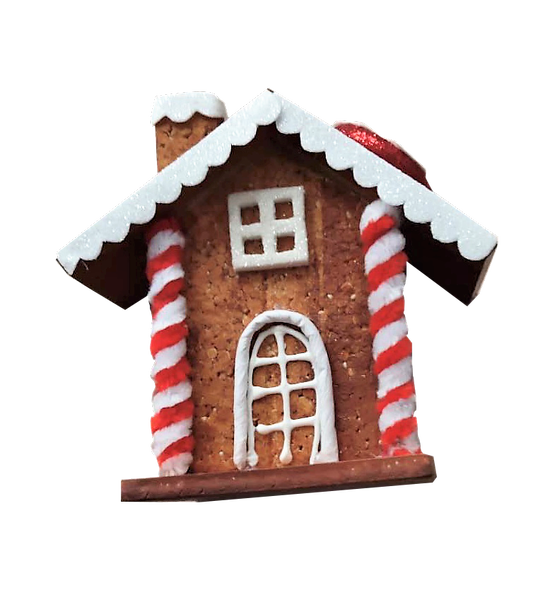 ORN Peppermint Gingerbread House 5.5x5