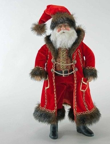 """Holiday Santa Doll-18"""""""