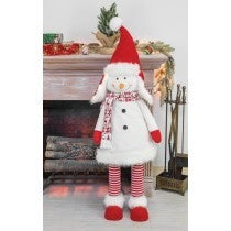 BUDDY BOBBLE SNOWMAN STANDER WITH LIGHT-UP HAT