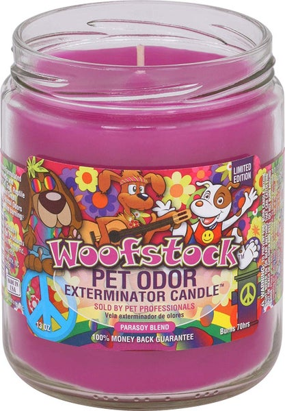 Woofstock Pet Odor Exterminator 13 Ounce Jar Candle