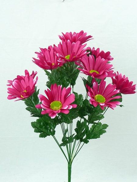 "Daisy bush x 12, 21""H Pink"