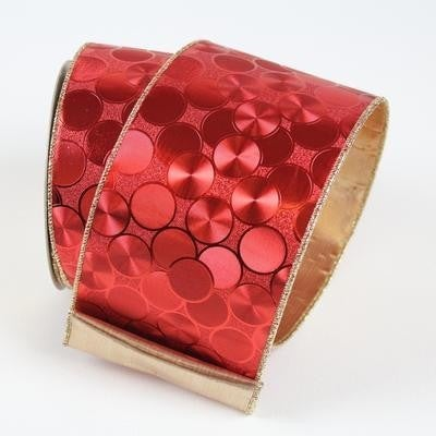 HOLIDAY COIN  1.5 X 10YD / RED GOLD