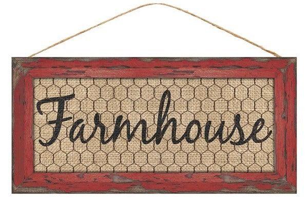 """12.5""""L X 6""""H FARMHOUSE W/CHICKEN WIRE"""