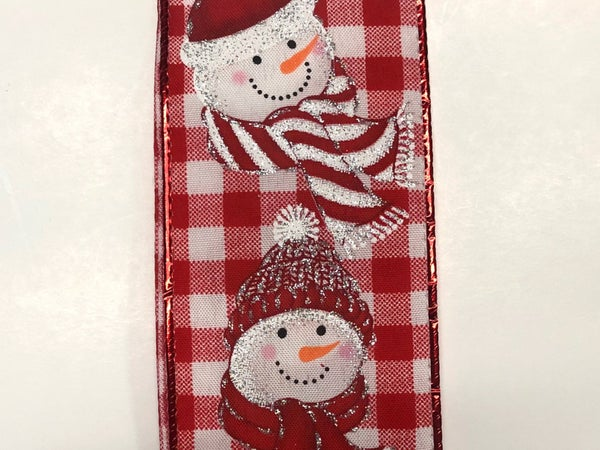 "Red-White Chex/Snowmen 2.5""x10yd"