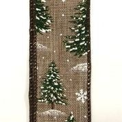 "Natural Linen/Snowy Trees 1.5""x10yd"