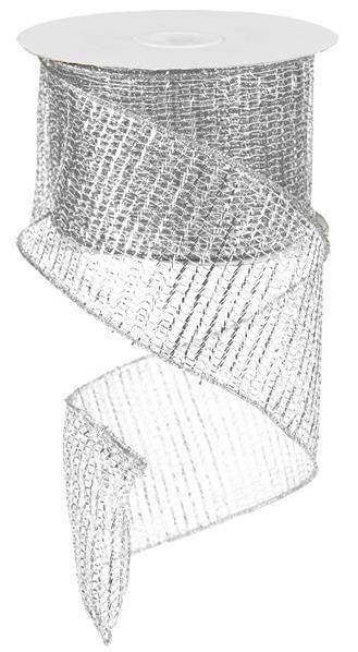 "4""X25yd Metallic Netting Silver"