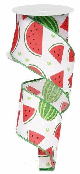"2.5""X10yd Watermelon Slices White/Pink/Green"
