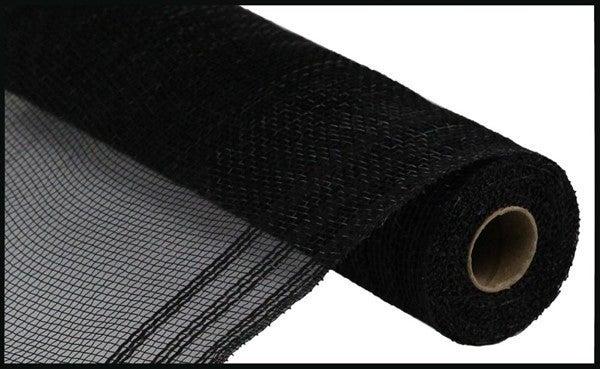 """10.5""""X10yd Faux Jute/Pp/Border Stripe Black"""
