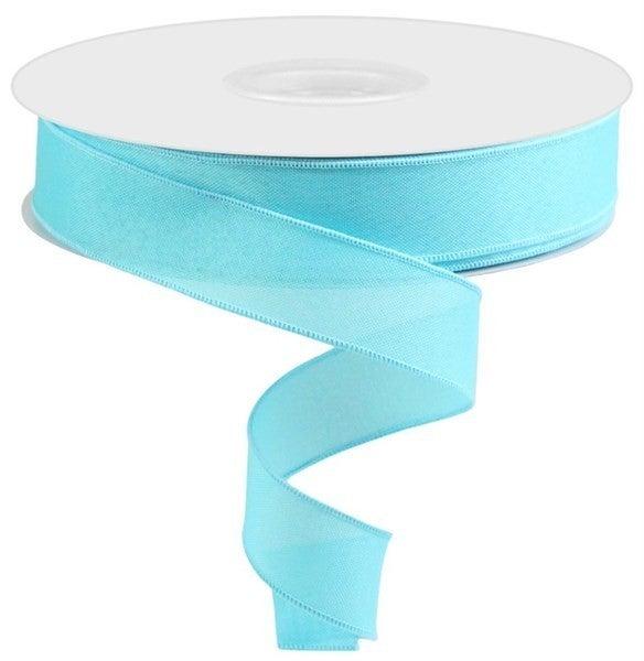 """1.5""""X50yd Value Faux Burlap Light Blue"""