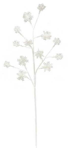 "28""L Glitter 3D Snowflake Spray white/silver"