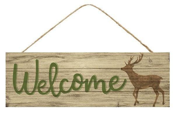 "15""L X 5""H Welcome/Deer Sign"