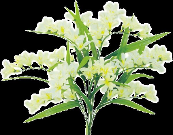 "Satin Freesia bush x 9, 21""H Cream"