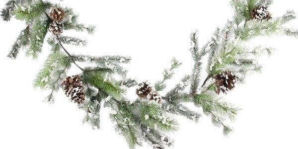 6' Snowdrop Vienna Pine/Pncn Garland