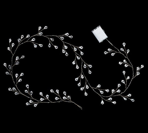 """60"""" LED AND MIRRORED BEAD GARLAND"""