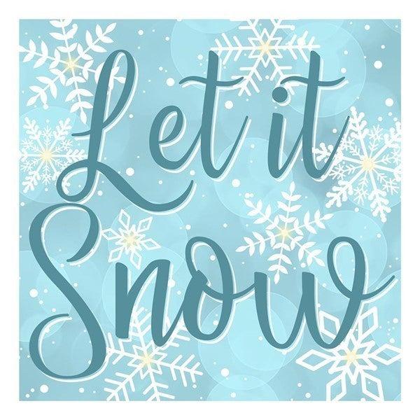 """10""""Sq Let It Snow Sign W/Lights Color: Blue/White"""