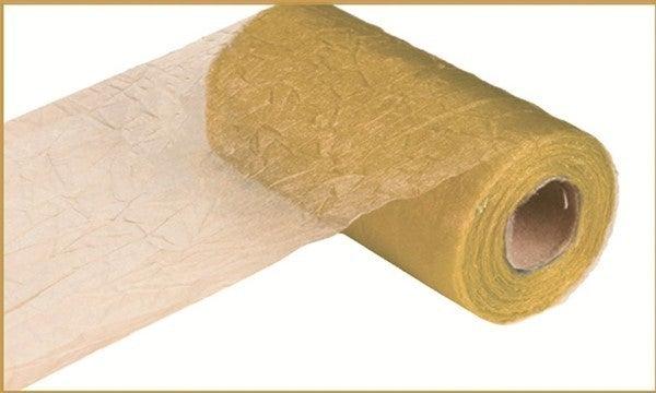"6"" X 25 Yds Crinkle Sheer Gold"