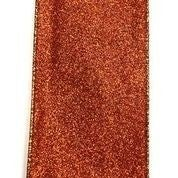 "Orange All Flat Glitter 2.5""x10yd"