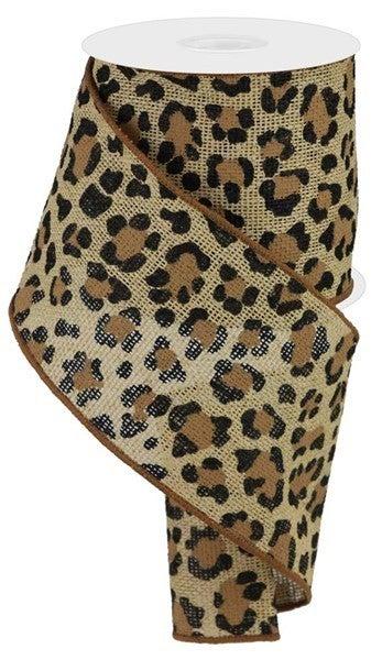 "4""X10yd Leopard Print/Faux Ryl Color: Natural/Black/Brown"