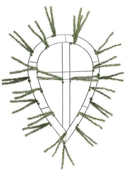 """22""""L X 14""""W Pencil Work Teardrop Green"""