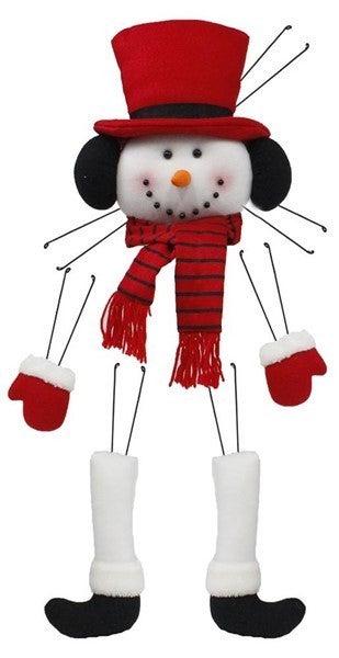"5 Pc 31""H Snowman Decor KitColor: Red/Black"