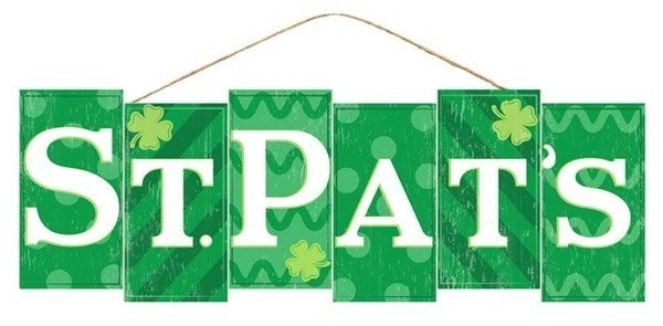 "14""L X 4.75""H St. Pats Block Sign"