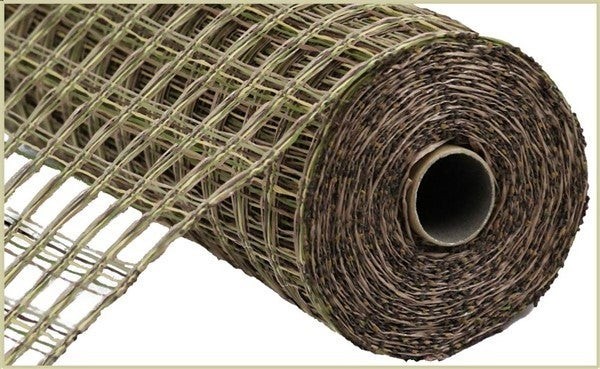 "21""X10YD POLY BURLAP CHECK MESH Color: Camouflage"