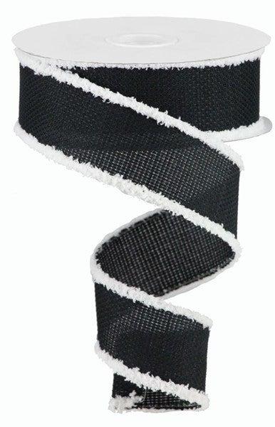 "1.5""X10yd Cross Royal/Snowdrift Black/White"