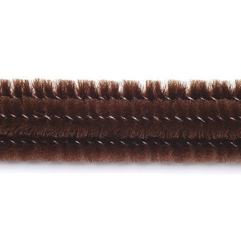 Chenille Stems - 6mm - Brown - 25 Pieces