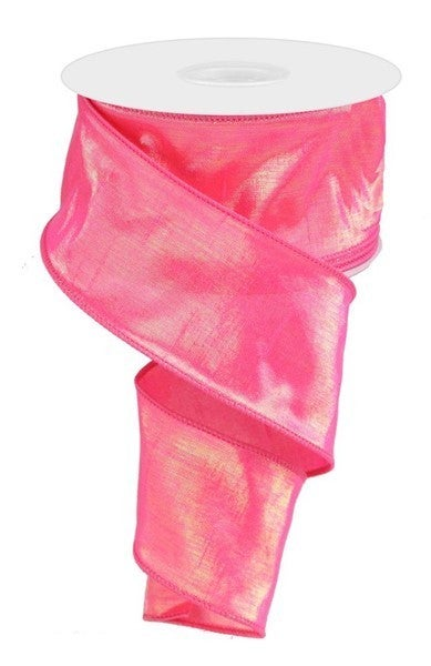 "2.5""X10yd Irid Dupioni Color: Irid Hot Pink"