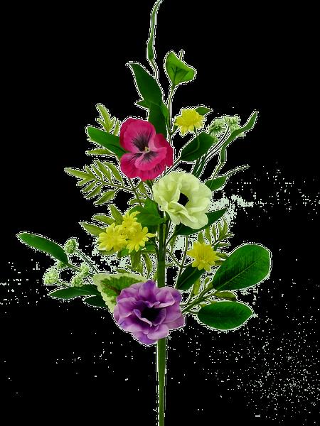 Anemone Pansy Spray H26