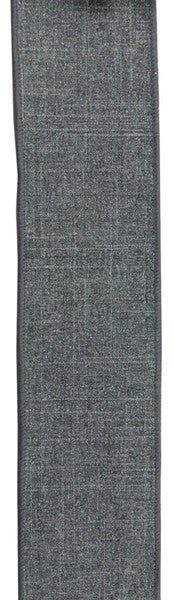 "2.5""X10YD GLITTER ON ROYAL BURLAP Color: Grey"