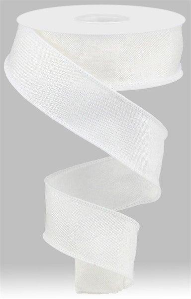 "1.5""X10yd Shiny Royal Burlap Color: White"