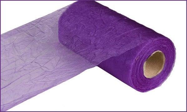 """6"""" X 25 Yds Crinkle Sheer Purple"""