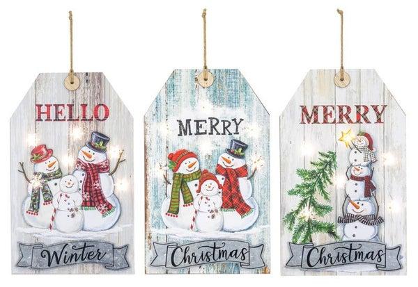 Merry Hello Xmas Small Tag Hanger