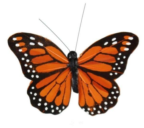 """3""""W Monarch Butterfly W/Clip 1 dozen"""