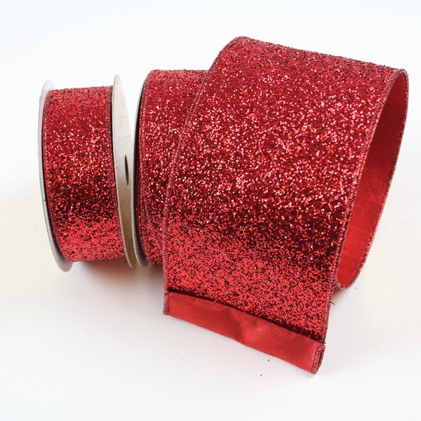 "GLITTER MAGIC - 2.5"" X 10YD / RED"